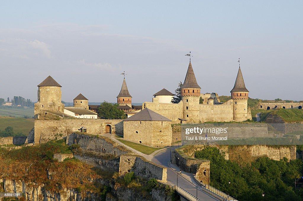 Ukraine, Khmelnystskyi province, fort of kamenets  : Stock Photo