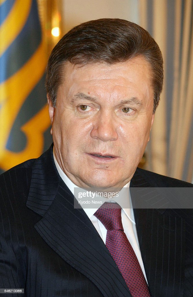 KIEV Ukraine Ukrainian President Viktor Yanukovych speaks at a press conference in Kiev on Jan 12 2011 Yanukovych said the money Japan paid Ukraine...