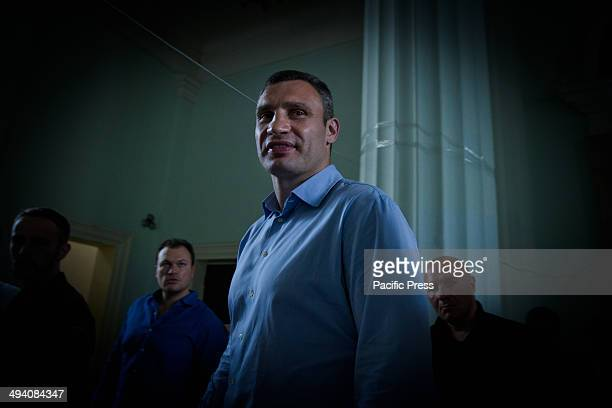 Ukraine's burly boxing hero and strident protest leader Vitali Klitschko who claimed victory Sunday in the Kiev mayoral vote comes to Kiev city...