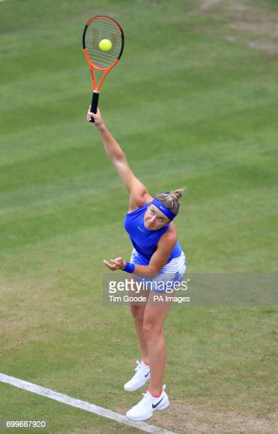 Ukraine's Elina Svitolina against Italy's Camila Giorgi during day four of the 2017 AEGON Classic at Edgbaston Priory Birmingham