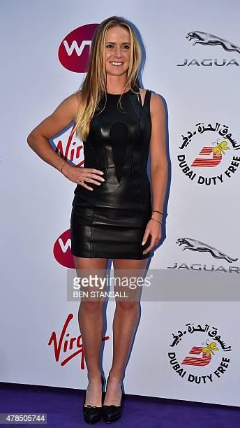 Ukraine's Elina Svitolina arrives to attend the Women's Tennis Association's preWimbledon party in Kensington London on June 25 2015 Wimbledon known...