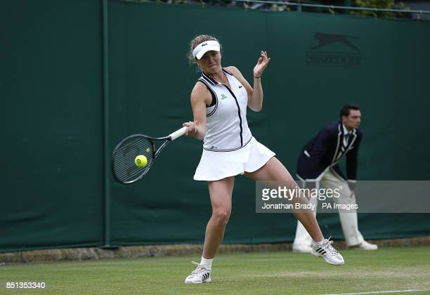 Ukraine's Elina Svitolina in action against France's Marion Bartoli during day one of the Wimbledon Championships at The All England Lawn Tennis and...