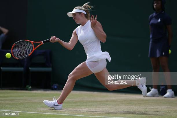 Ukraine's Elina Svitolina returns against Germany's Carina Witthoeft during their women's singles third round match on the fifth day of the 2017...