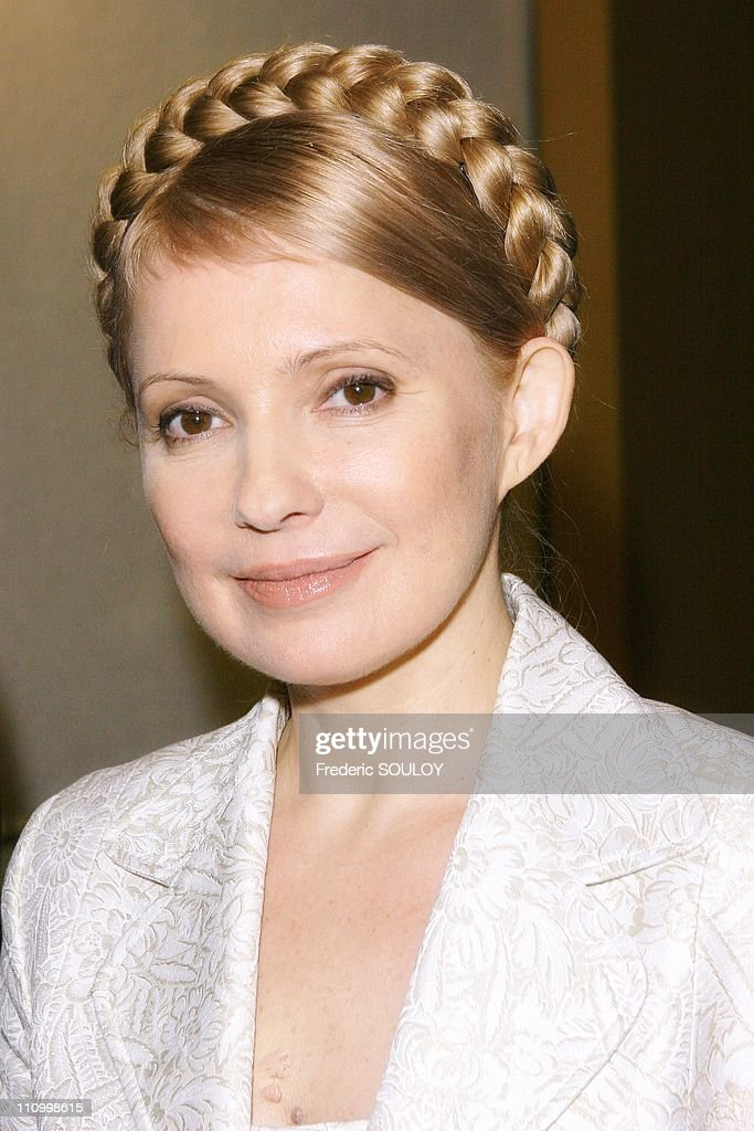 Ukraine's former prime minister Yulia Timoshenko on tv show 'The Talk of Paris', hosted by Ulysse Gosset in Paris, France on March 28th, 2007