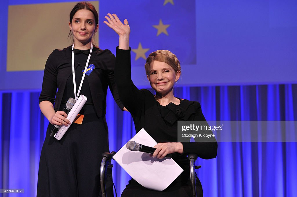 Ukraine's former prime minister <a gi-track='captionPersonalityLinkClicked' href=/galleries/search?phrase=Yulia+Tymoshenko&family=editorial&specificpeople=546280 ng-click='$event.stopPropagation()'>Yulia Tymoshenko</a> and her daughter Yevgenia attend the European People's Party Elections Congress 2014 at the Convention Centre on March 6, 2014 in Dublin, Ireland. Vitaly Klitschko is part of a Ukrainian delegation attending the two-day European People's Party congress, Europe's largest political party. The Congress will select the EPP's candidate for President of the European Commission and start the party's campaign for the European Parliament elections.