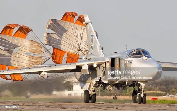during a space shuttle landing a parachute deploys - photo #39