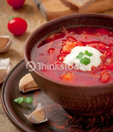 ukrainische und russische nationale rote borsch suppe nahaufnahme stock foto thinkstock. Black Bedroom Furniture Sets. Home Design Ideas