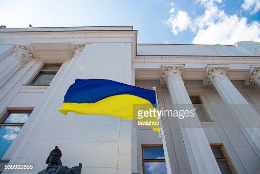 Ukrainian flag : Stock Photo