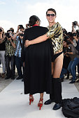 Ukrainian journalist/prankster Vitalii Sediuk targets Singer Ciara with his latest celebrity prank as she arrives at Valentino Fashion Show during...