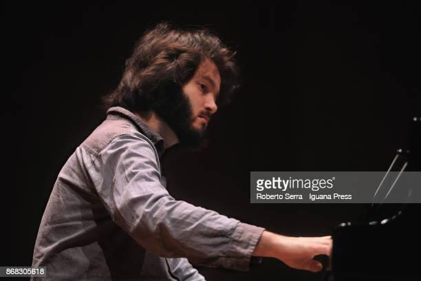 Ukrainian musician Antonji Baryshevskyi rehearses before performing in concerto for Musica Insieme at Auditorium Manzoni on October 30 2017 in...