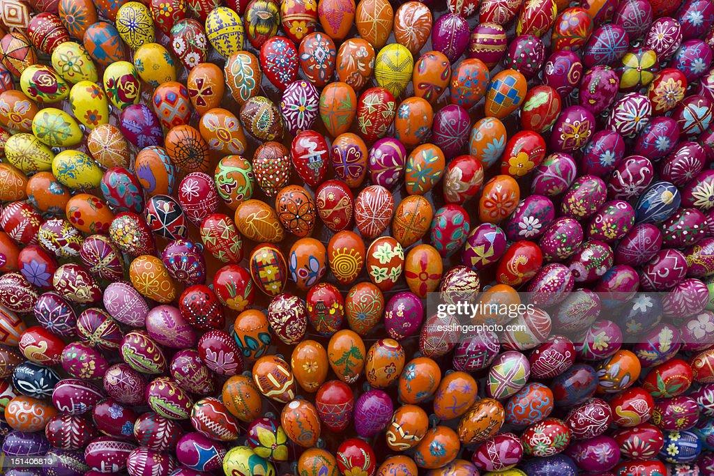 Ukrainian painted eggs : Stock Photo