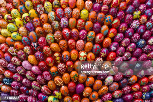 Ukrainian painted eggs : Stock Photo