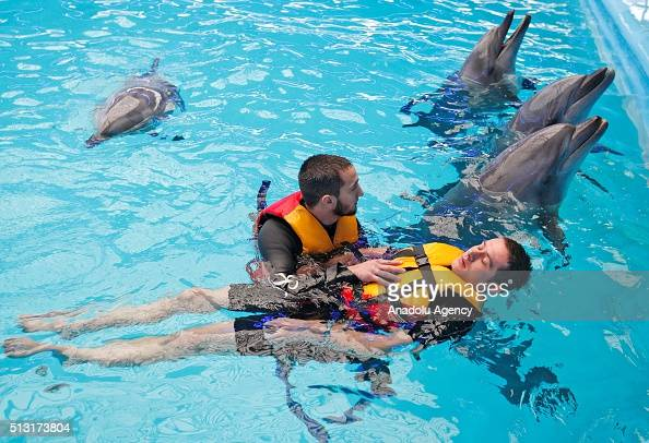 Dolphin therapy for wounded ukrainian soldiers in kiev
