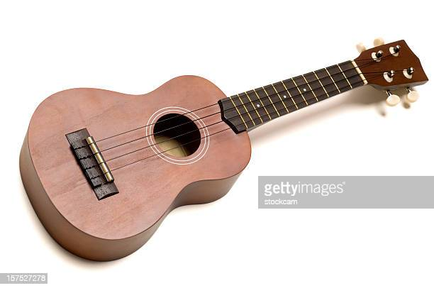 Ukulele guitar on white