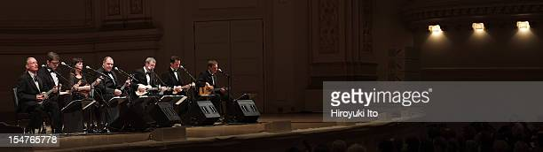 Ukulele Orchestra of Great Britain performing at Carnegie Hall on Wednesday night October 17 2012They are from left David Suich Peter Brooke Turner...