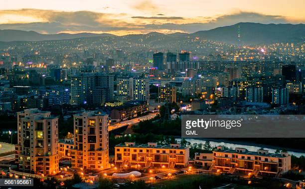 Ulaanbaatar city in summer night