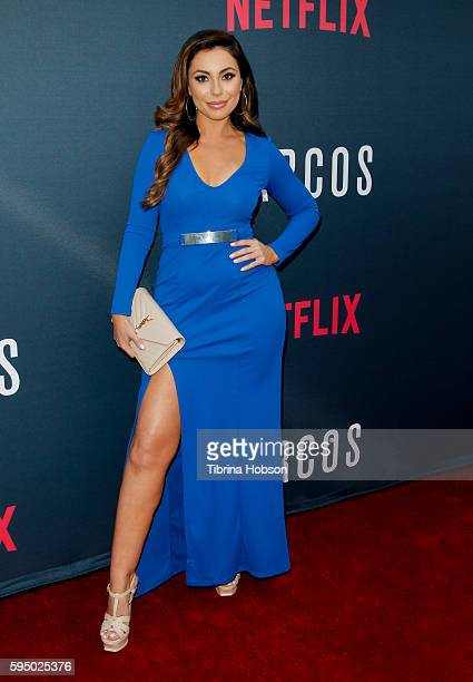 Uldouz Wallace attends the premiere of Netflix's 'Narcos' season 2 at ArcLight Cinemas on August 24 2016 in Hollywood California