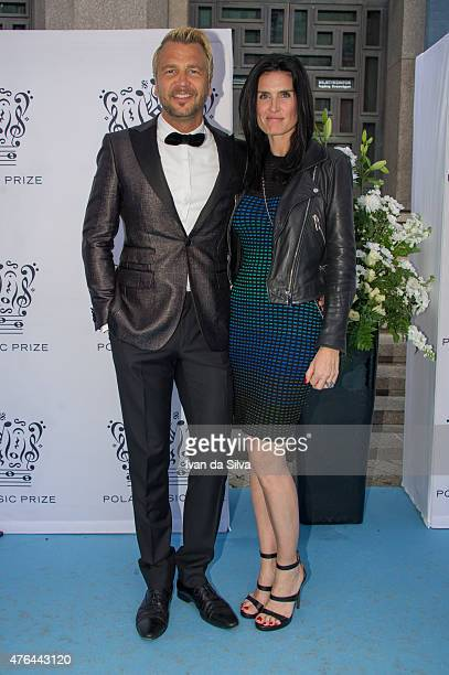 Ulf Ekberg and Johanna Aybar attend Polar Music Prize at Stockholm Concert Hall on June 9 2015 in Stockholm Sweden