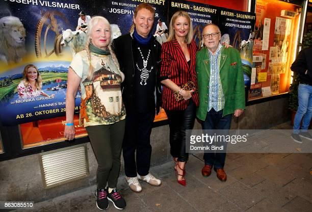 Uli Buchner HansJuergen Buchner Monika Gruber and Joseph Vilsmaier attend the 'Bayern sagenhaft' Premiere at Filmtheater Sendlinger Tor on October 19...