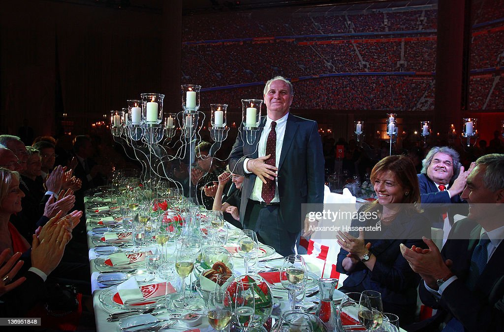 <a gi-track='captionPersonalityLinkClicked' href=/galleries/search?phrase=Uli+Hoeness&family=editorial&specificpeople=634868 ng-click='$event.stopPropagation()'>Uli Hoeness</a> is honoured at his 60th birthday celebration at Postpalast on January 13, 2012 in Munich, Germany.