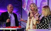 Uli Hoeness Maria Furtwaengler and Patricia Riekel attend the Women's World Cup Night as part of the Digital Life Design women conference at Bavarian...