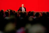 Uli Hoeness the new elected president of FC Bayern Muenchen looks on during the FC Bayern Muenchen general meeting at the Neue Messe Munich on...