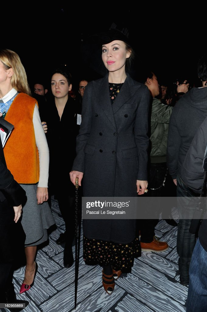 Uliana Sergeenko attends the front row at the Viktor&Rolf Fall/Winter 2013 Ready-to-Wear show as part of Paris Fashion Week on March 2, 2013 in Paris, France.