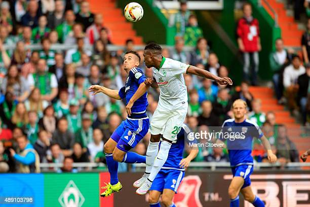 Ulisses Garcia of Bremen during the Bundesliga match between Werder Bremen and FC Ingolstadt at Weserstadion on September 19 2015 in Bremen Germany