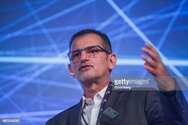 Ulisses Mello director at International Business Machines Corp Research Brazil speaks during the Global Agribusiness Forum in Sao Paulo Brazil on...