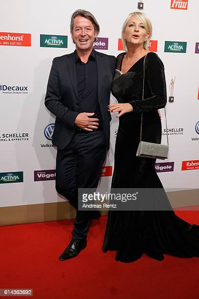 Ulla Kock am Brink and her boyfriend Peter Fissenewert attend the 'Goldene Bild der Frau' award at Stage Theater on October 13 2016 in Hamburg Germany