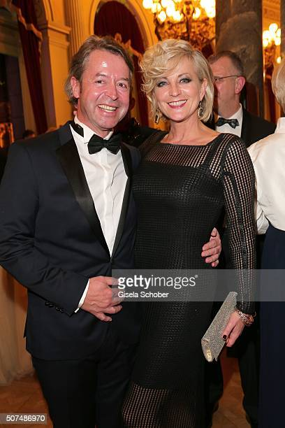 Ulla Kock am Brink and her boyfriend Peter Fissenewert during the Semper Opera Ball 2016 at Semperoper on January 29 2016 in Dresden Germany