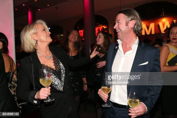 Ulla Kock am Brink and her boyfriend Peter Fissenewert during the BUNTE BMW Festival Night 2017 during the 67th Berlinale International Film Festival...