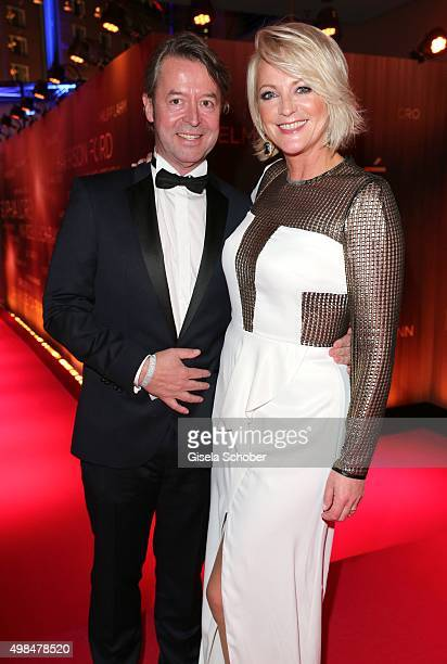Ulla Kock am Brink and her partner Peter Fissenewert during the Bambi Awards 2015 at Stage Theater on November 12 2015 in Berlin Germany