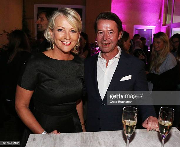 Ulla Kock am Brink and Peter Fissenewert attend the House Of Marcell von Berlin Grand Opening on September 9 2015 in Berlin Germany
