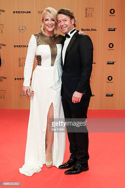 Ulla Kock am Brink and Peter Fissenewert attend the Kryolan At Bambi Awards 2015 Red Carpet Arrivals on November 12 2015 in Berlin Germany