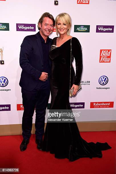 Ulla Kock am Brink and Peter Fissenewert attend the red carpet at the 'Goldene Bild der Frau' award at Stage Theater on October 13 2016 in Hamburg...