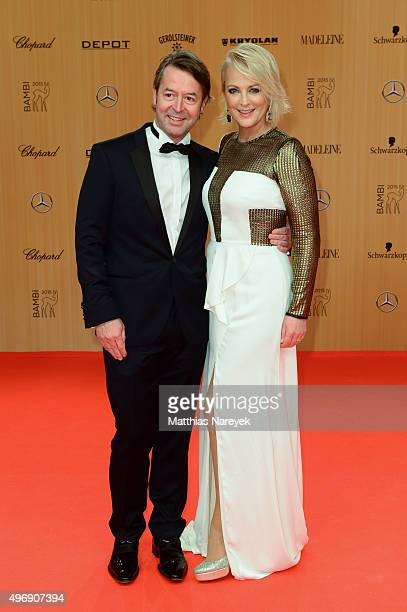 Ulla Kock am Brink and Theo Baltz attend the Bambi Awards 2015 at Stage Theater on November 12 2015 in Berlin Germany