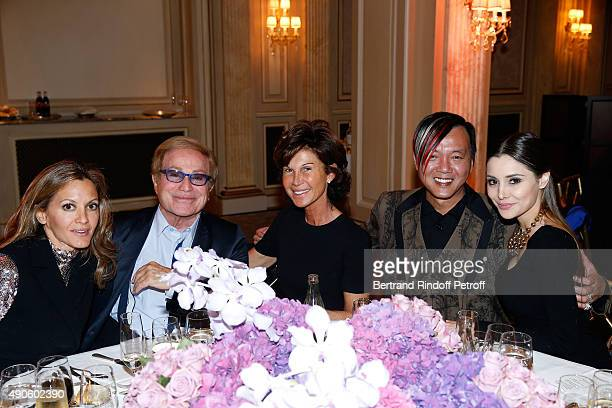 Ulla Parker Orlando Sylvie Rousseau Stefen Hung and his wife Deborah ValdezHung attend the Charity Dinner to Benefit 'Claude Pompidou Foundation'...