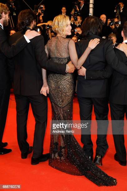 Ulrich Brandhoff Numan Acar Diane Kruger and director Fatih Akin attend the 'In The Fade ' screening during the 70th annual Cannes Film Festival at...