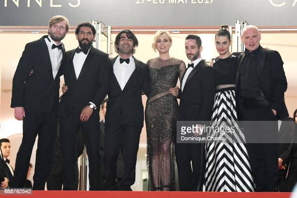 Ulrich Brandhoff Numan Acar director Fatih Akin Diane Kruger Samia Muriel Chancrin Johannes Krisch and Denis Moschitto attend the 'In The Fade '...