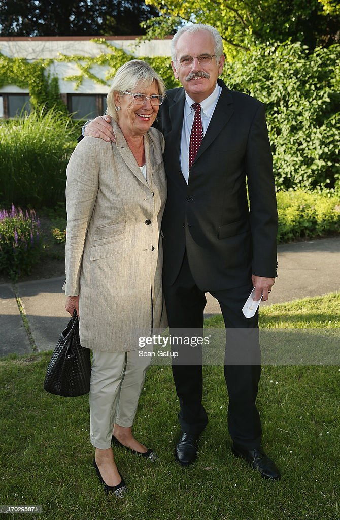 Ulrich Deppendorf and his wife Ursula attend the Henry A. Kissinger Prize 2013 award at the American Academy in Berlin on June 10, 2013 in Berlin, Germany.