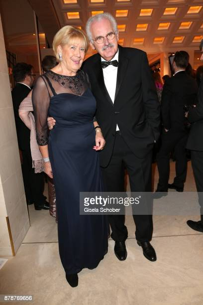 Ulrich Deppendorf and his wife Ursula Deppendorf during the 66th 'Bundespresseball' at Hotel Adlon on November 24 2017 in Berlin Germany