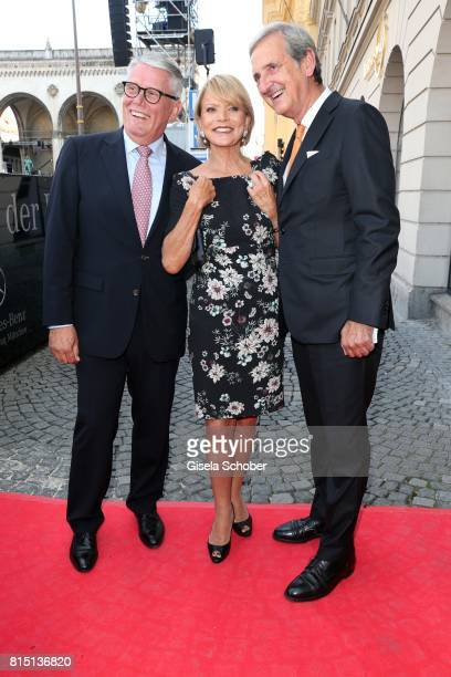 Ulrich Kowalewski Mercedes Benz Muenchen Uschi Glas and her husband Dieter Hermann at the MercedesBenz reception at 'Klassik am Odeonsplatz' on July...