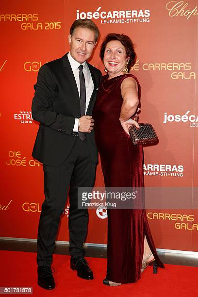 Ulrich Meyer and Georgia Tornow attend the 21th Annual Jose Carreras Gala at Hotel Estrel on December 17 2015 in Berlin Germany