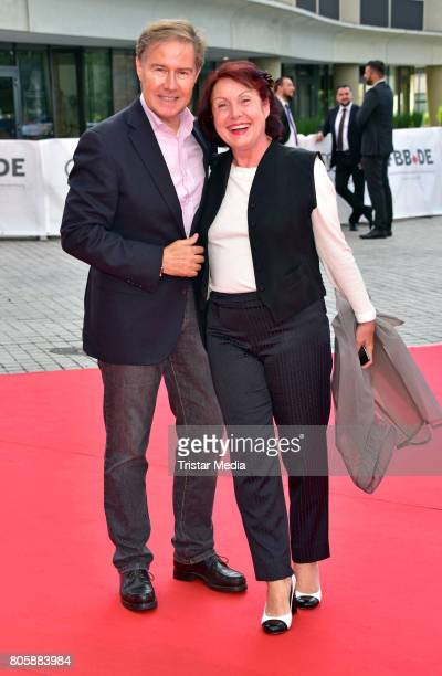Ulrich Meyer and his wife Georgia Tornow attend the Opening Gala Of The 23 Jewish Film Festival Berlin And Brandenburg 2017 at Hans Otto Theater on...