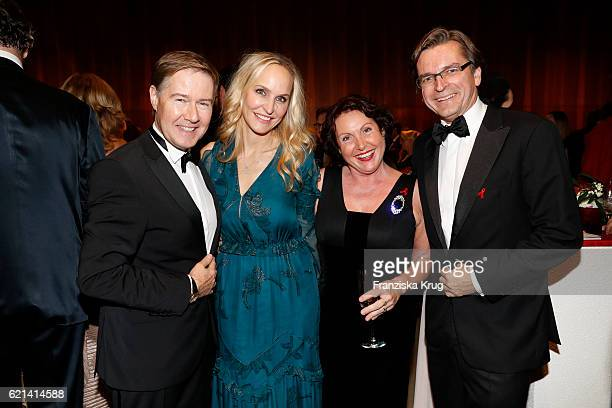 Ulrich Meyer Anne MeyerMinnemann Georgia Tornow and Claus Strunz attend the aftershow party during the 23rd Opera Gala at Deutsche Oper Berlin on...