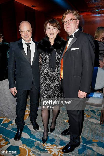 Ulrich Meyer Dagmar Reim and Andre Schmitz attend the Victress Awards Gala on 2016 in Berlin Germany
