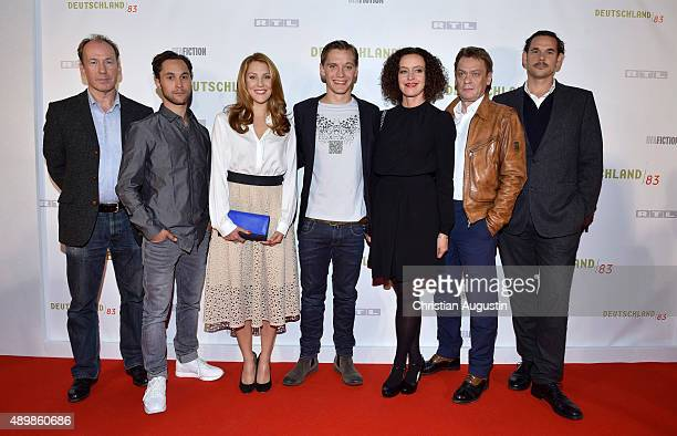 Ulrich Noethen Ludwig Trepte Nikola Kastner Jonas NayMaria Schrader Sylvester Groth and Alexander Beyer attend RTL Program Presentation and premiere...