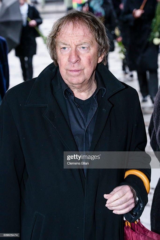 Ulrich Pleitgen attends the Wolfgang Rademann memorial service on February 11, 2016 in Berlin, Germany.