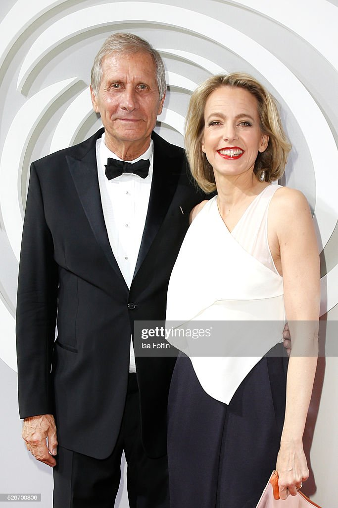 Ulrich Wickert and Julia Jaekel attend the Rosenball 2016 on April 30, 2016 in Berlin, Germany.